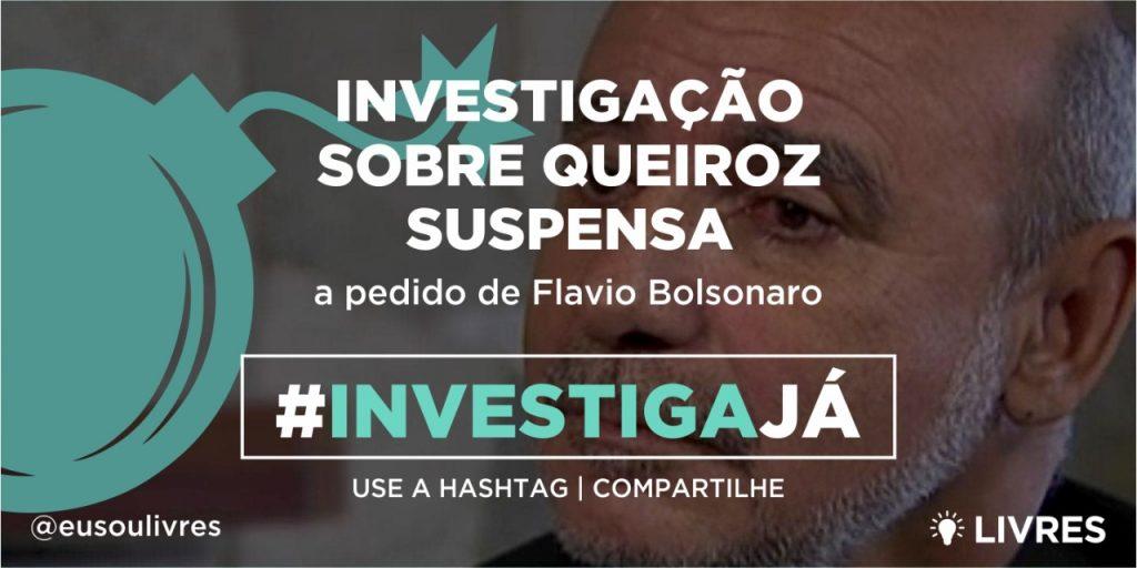 A pedido de Flavio Bolsonaro, STF suspende investigação sobre Queiroz