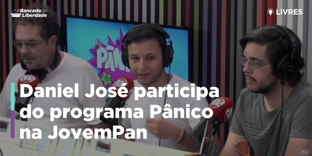 Daniel José participa do programa Pânico, da Jovem Pan