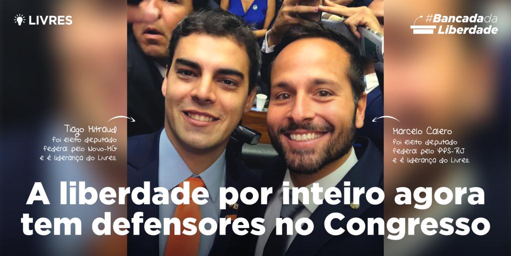 Deputados Federais do Livres tomam posse em Brasília