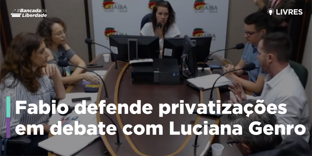 Fábio Ostermann defende privatização em debate com Luciana Genro