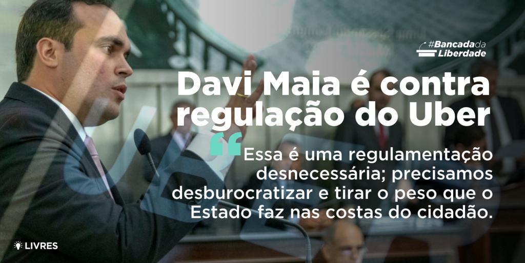 Davi Maia é contra regulação do Uber
