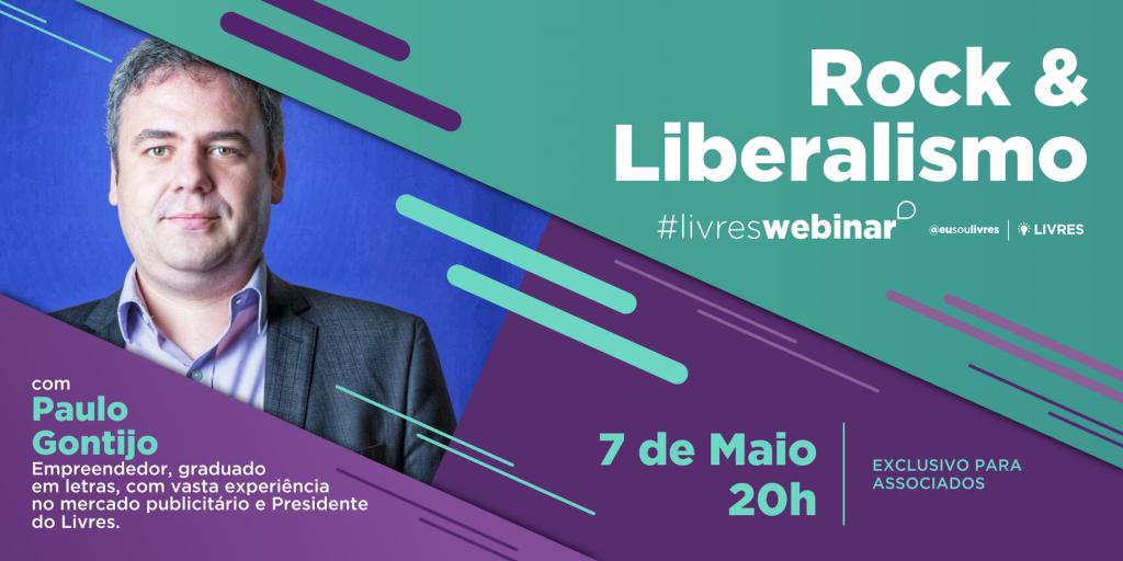 Rock & Liberalismo: Webinário Livres com Paulo Gontijo sobre cultura, política e liberdade