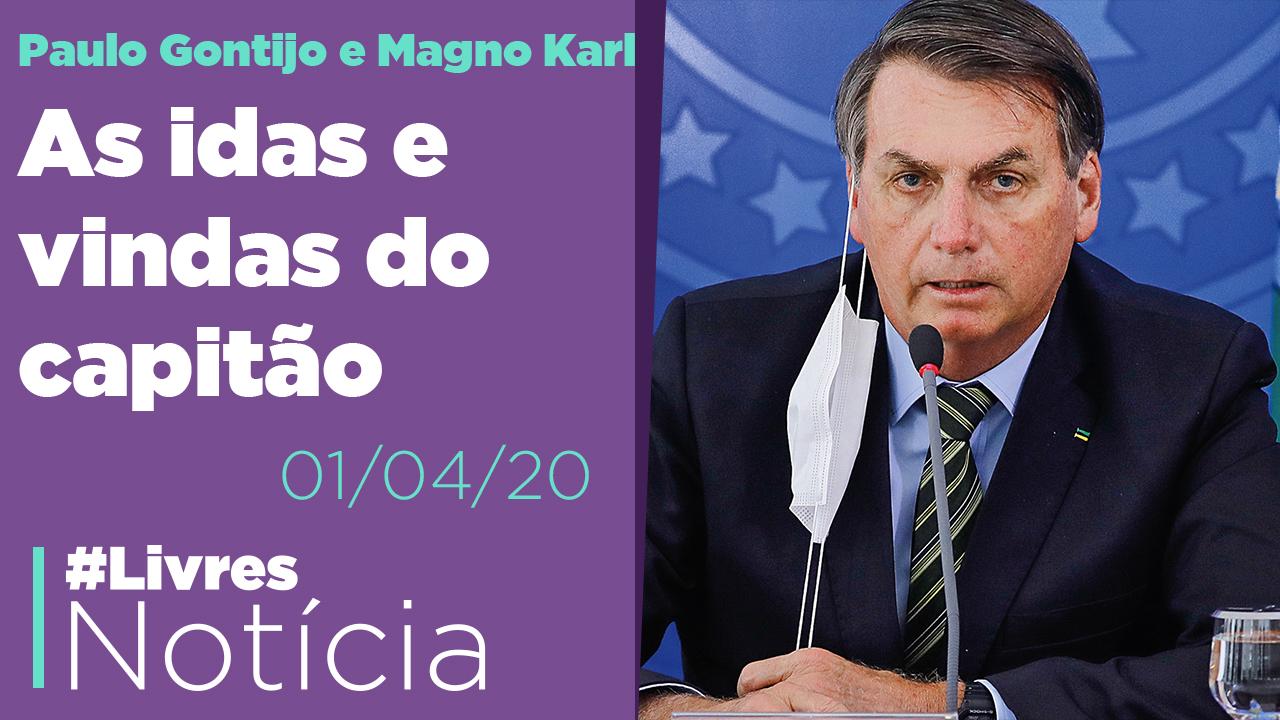Isolado, Bolsonaro baixou o tom