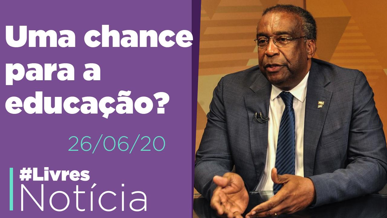 Novo ministro da educação, boa medida na economia, revogaço em Alagoas