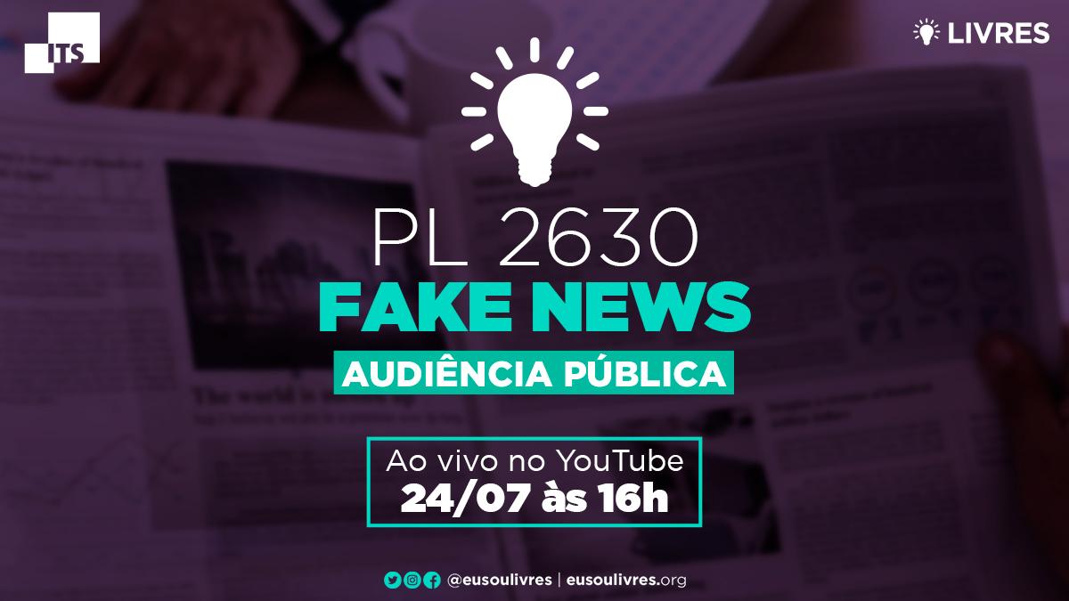 Livres realiza audiência pública sobre PL das Fake News