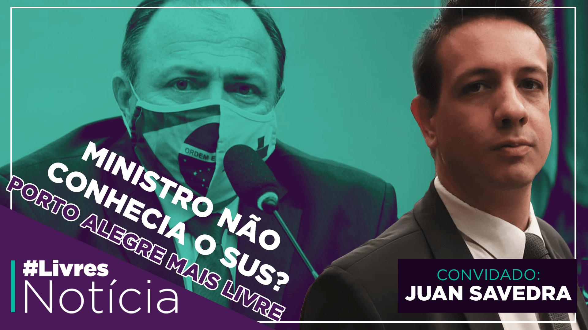 Juan Savedra: desafios da liberdade em Porto Alegre | LivresNotícia AO VIVO – 08/10