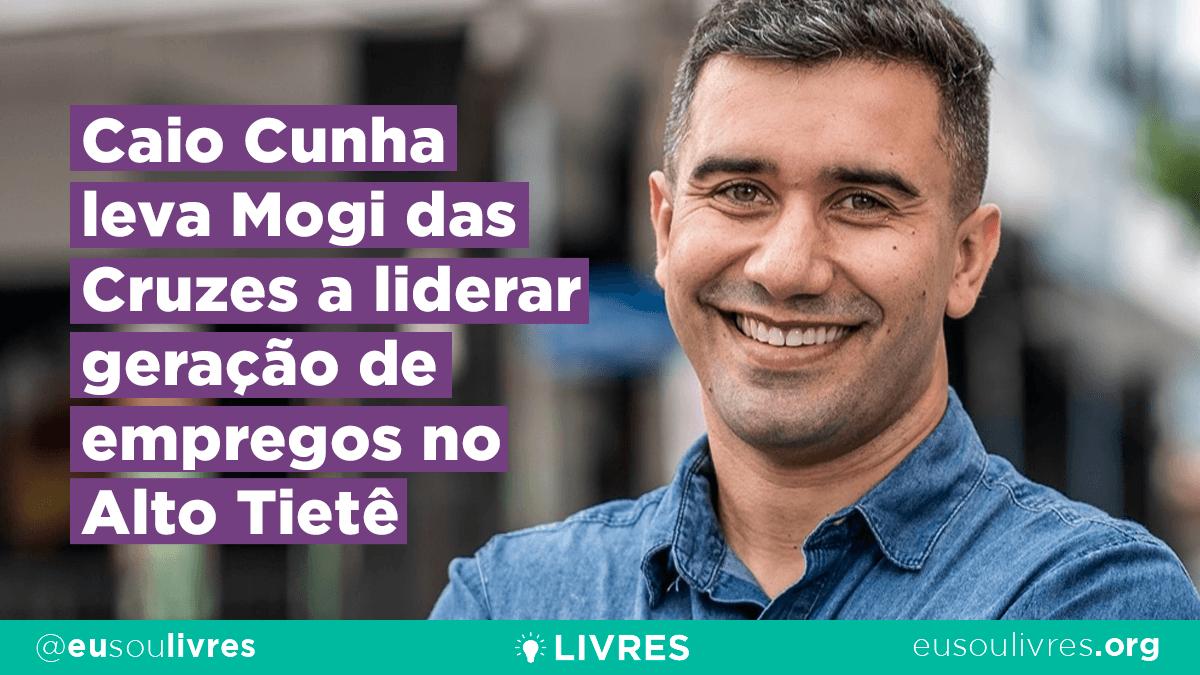 Caio Cunha leva Mogi das Cruzes a liderar geração de empregos no Alto Tietê